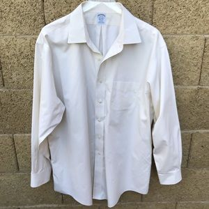 Brooks Bothers Cream Button Up #818